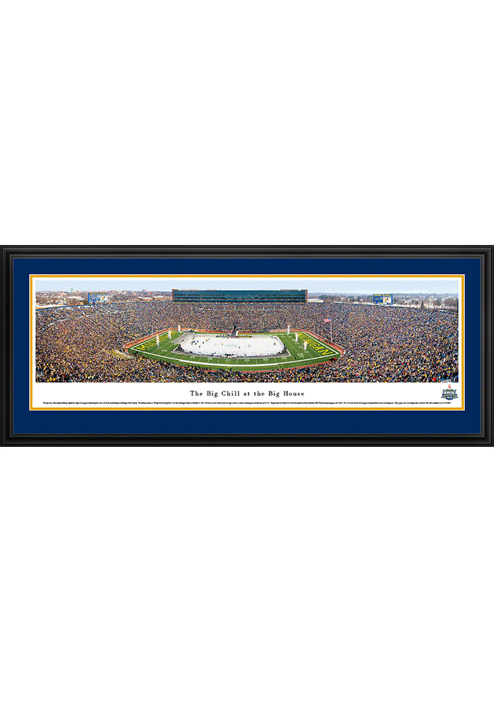 Michigan Wolverines v. Michigan State The Big Chill...Deluxe Framed Posters - Image 1