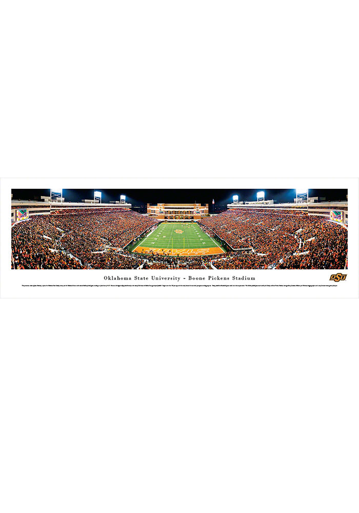Oklahoma State Cowboys Boone Pickens Stadium Endzone Tubed Unframed Poster - Image 1