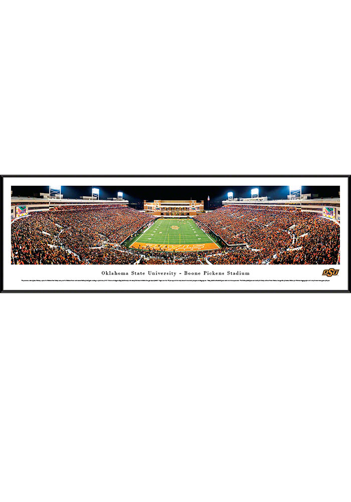Oklahoma State Cowboys Boone Pickens Stadium Endzone Standard Framed Posters - Image 1