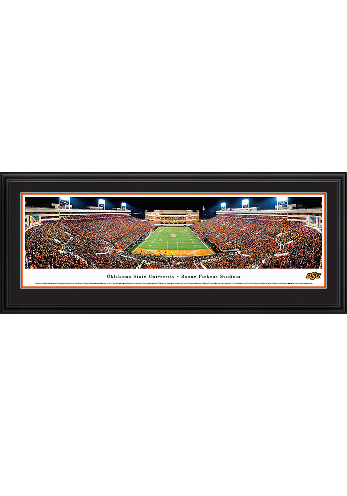 Oklahoma State Cowboys Boone Pickens Stadium Endzone Deluxe Framed Posters - Image 1
