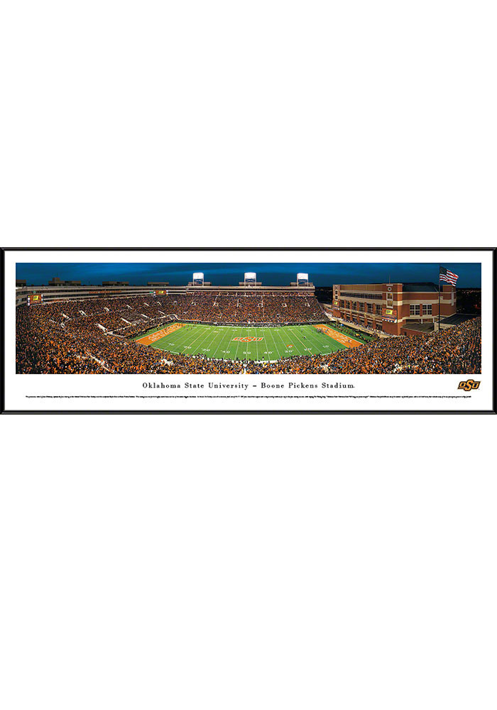 Oklahoma State Cowboys Boone Pickens Stadium Standard Framed Posters - Image 1