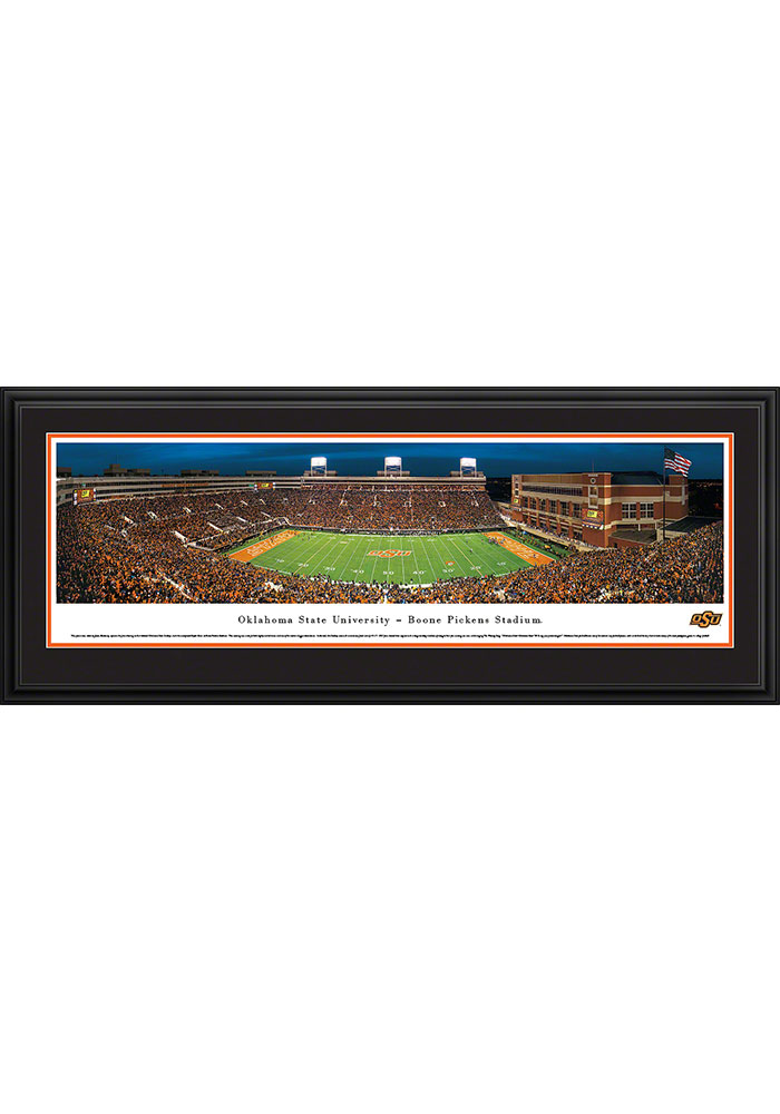 Oklahoma State Cowboys Boone Pickens Stadium Deluxe Framed Posters - Image 1