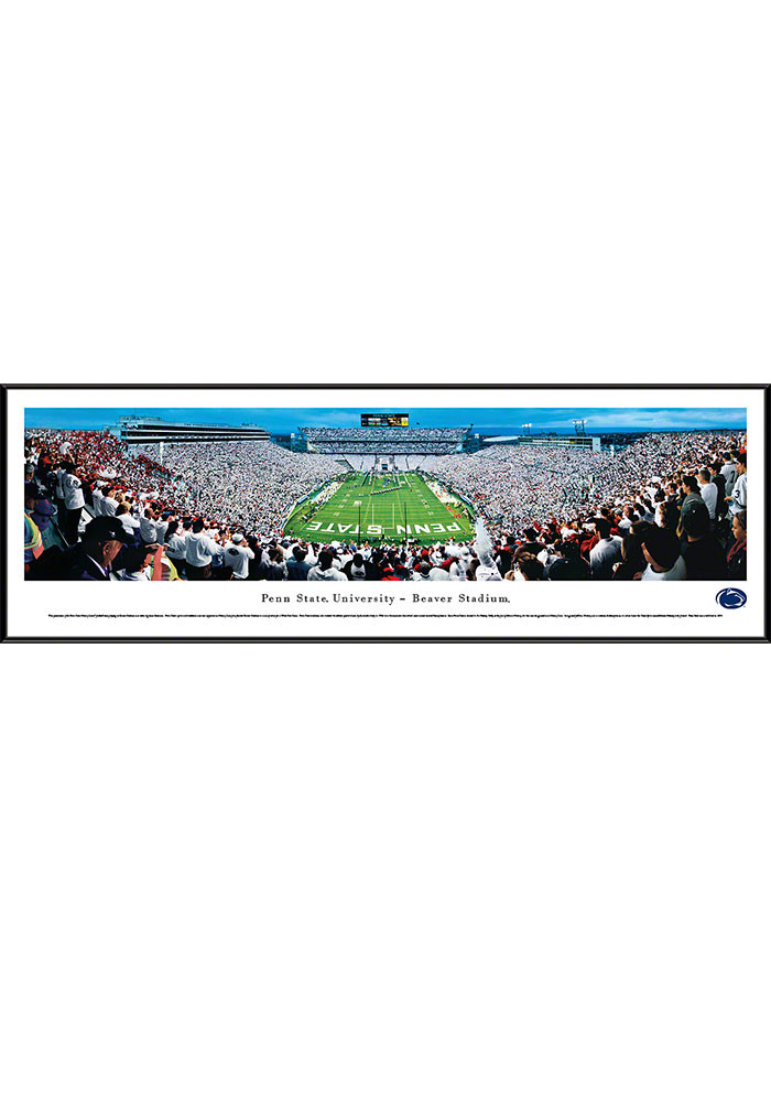 Penn State Nittany Lions Beaver Stadium Endzone Standard Framed Posters - Image 1