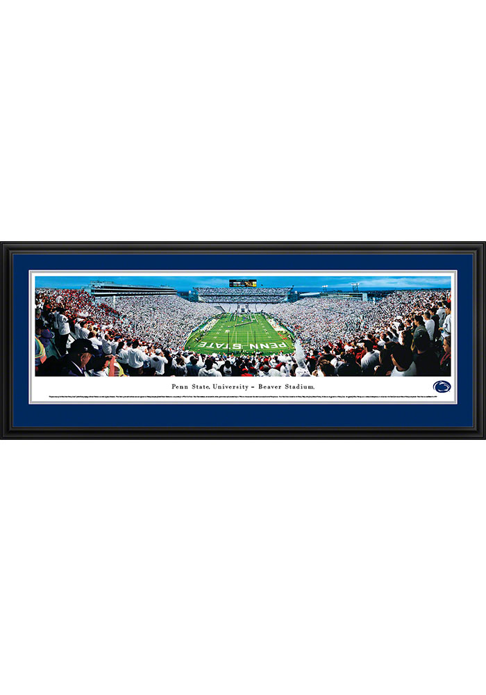 Penn State Nittany Lions Beaver Stadium Endzone Deluxe Framed Posters - Image 1