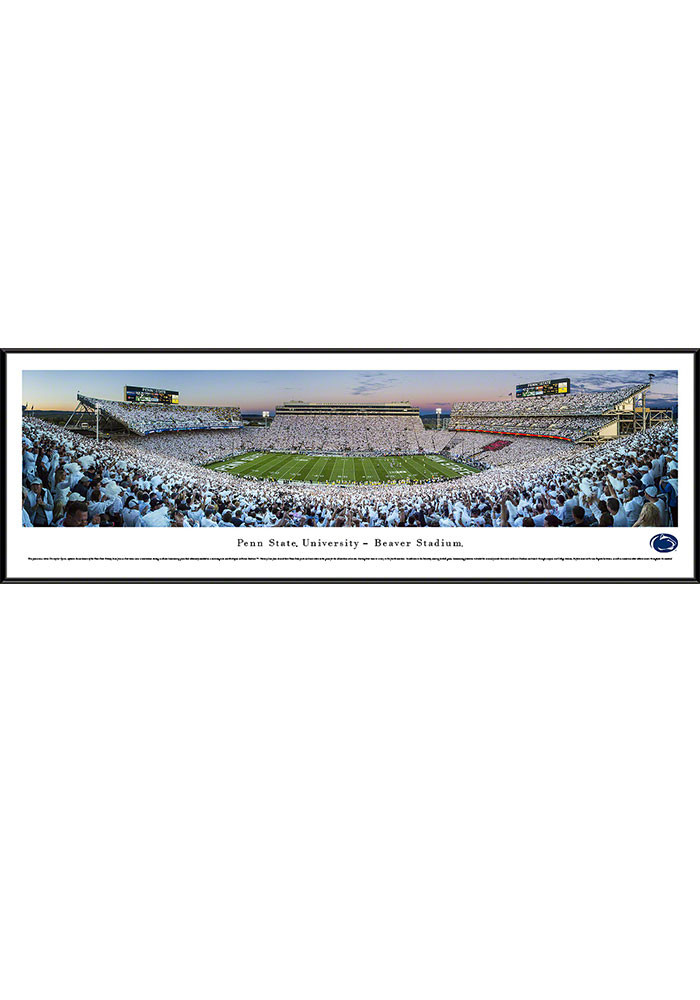 Penn State Nittany Lions Beaver Stadium White Out Standard Framed Posters - Image 1