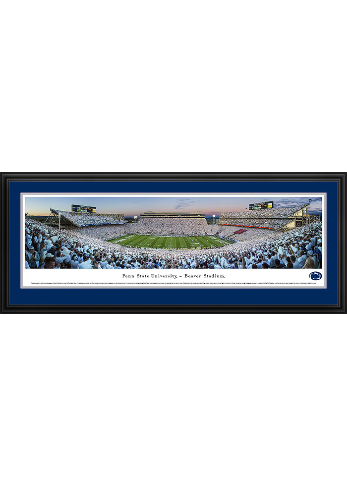 Penn State Nittany Lions Beaver Stadium White Out Deluxe Framed Posters - Image 1