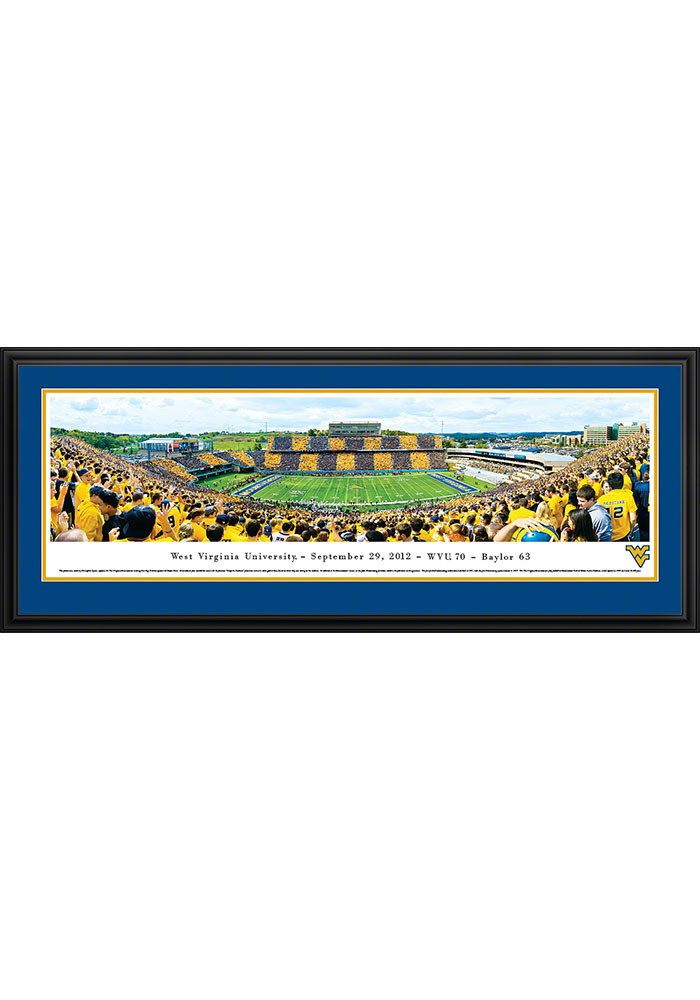 West Virginia Mountaineers Mountaineer Field Stripe the Stadium Deluxe Framed Posters - Image 1