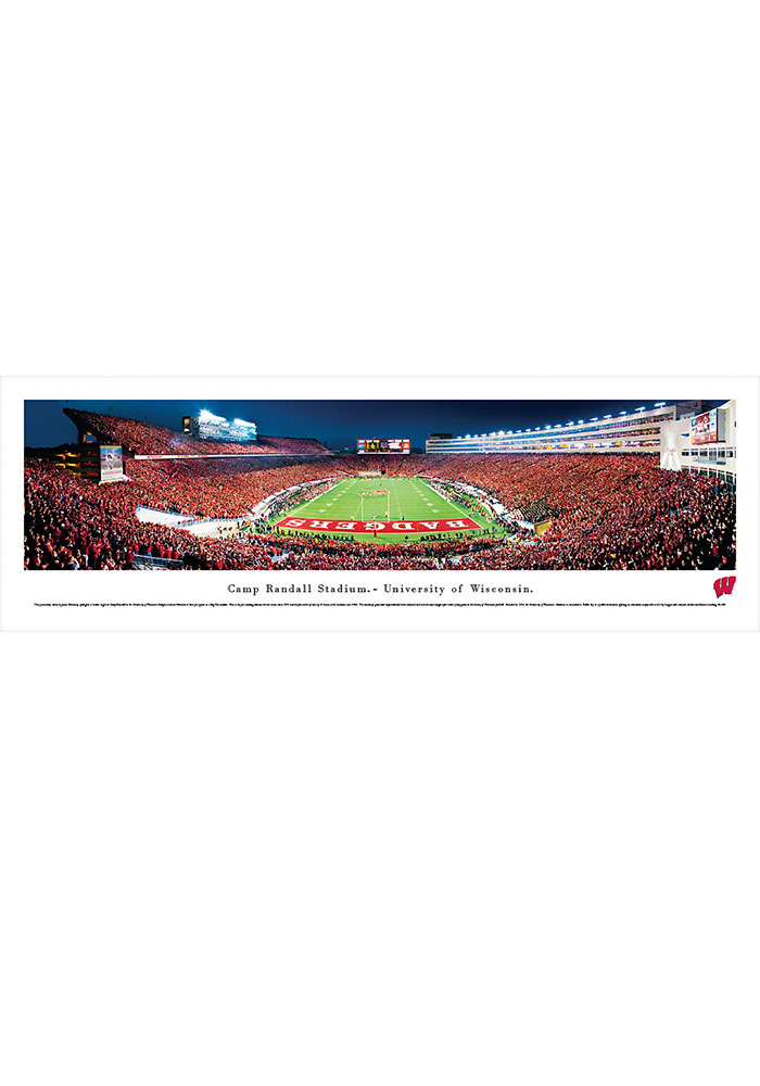 Wisconsin Badgers Camp Randall Stadium Endzone Tubed Unframed Poster - Image 1