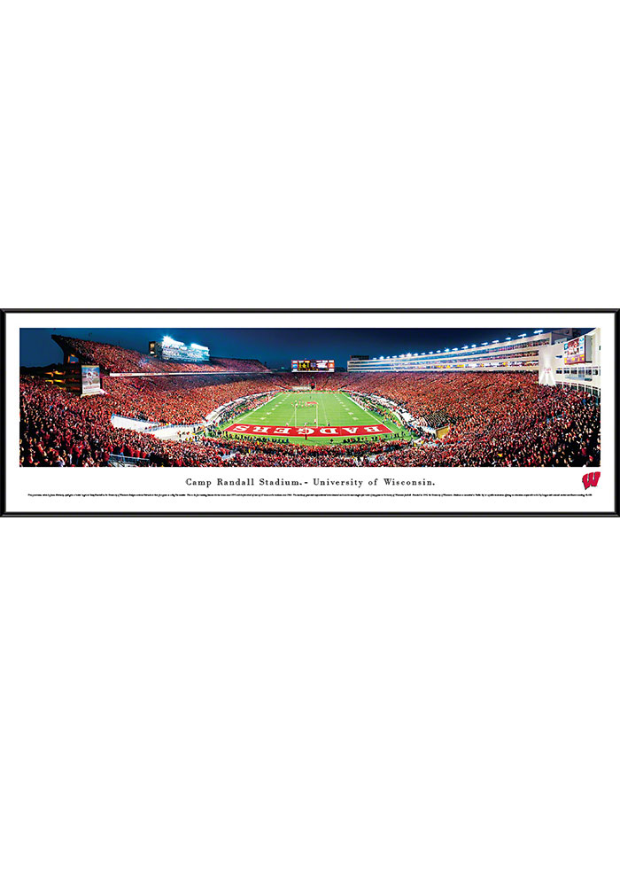 Wisconsin Badgers Camp Randall Stadium Endzone Standard Framed Posters - Image 1