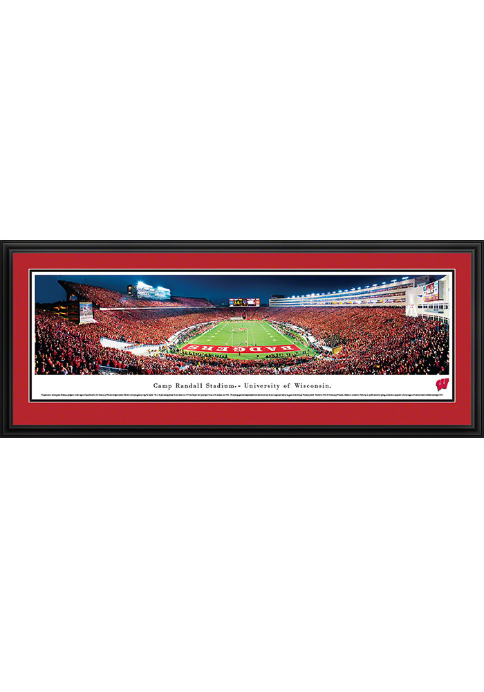 Wisconsin Badgers Camp Randall Stadium Endzone Deluxe Framed Posters - Image 1