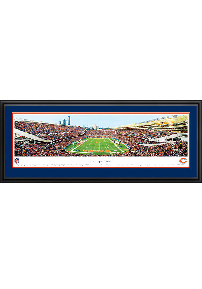 Chicago Bears Soldier Field Endzone Deluxe Framed Posters - Image 1