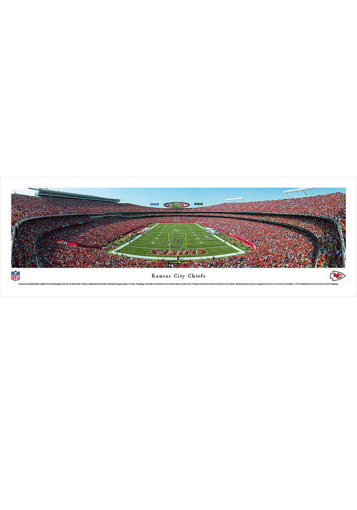 Kansas City Chiefs Arrowhead Stadium Endzone Tubed Unframed Poster - Image 1