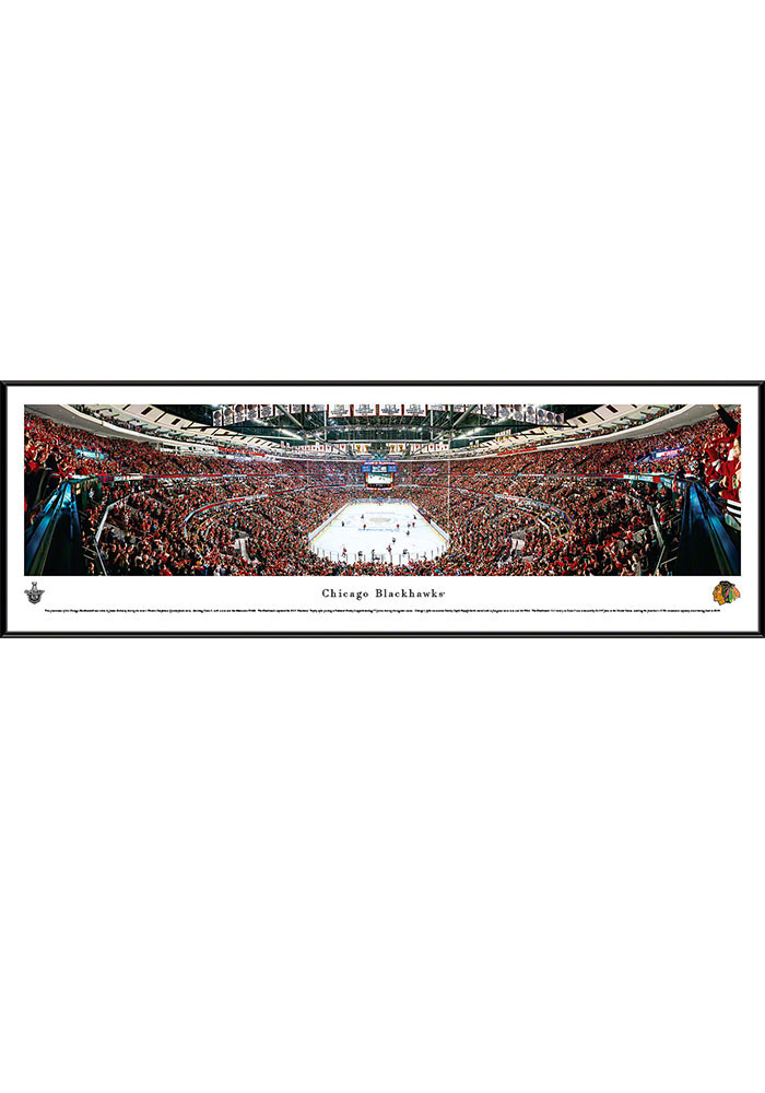 Chicago Blackhawks United Center Side View Standard Framed Posters - Image 1