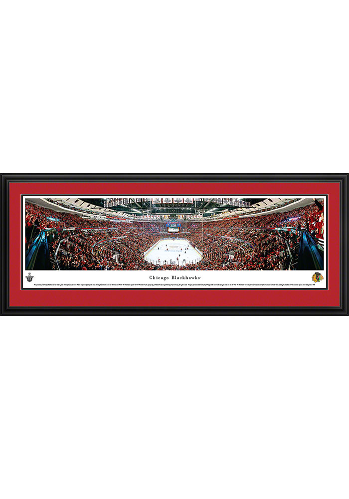 Chicago Blackhawks United Center Side View Deluxe Framed Posters - Image 1