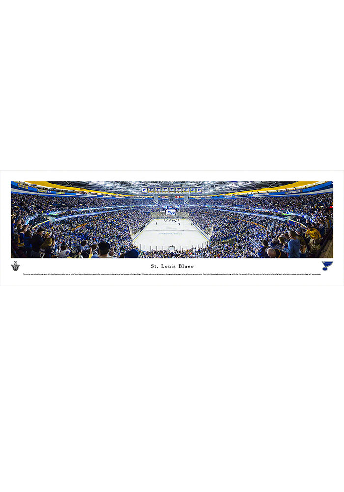 St Louis Blues Scottrade Center Side View Tubed Unframed Poster - Image 1
