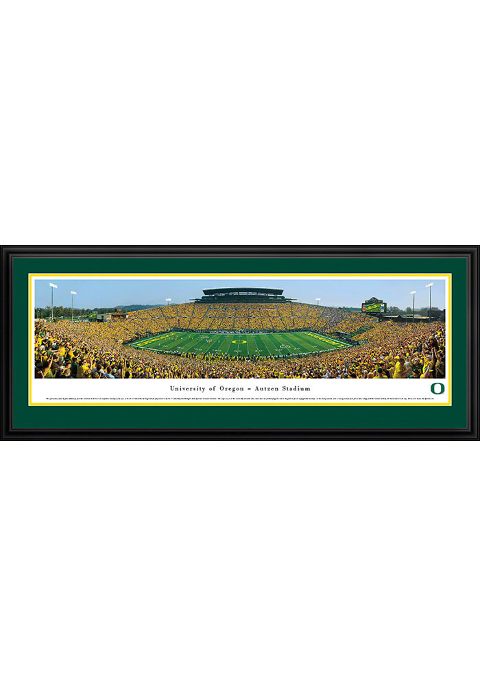 Oregon Ducks Football 2 Panorama Deluxe Framed Posters - Image 1