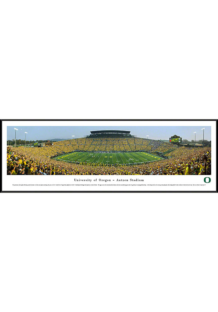 Oregon Ducks Football Panorama Framed Posters - Image 1