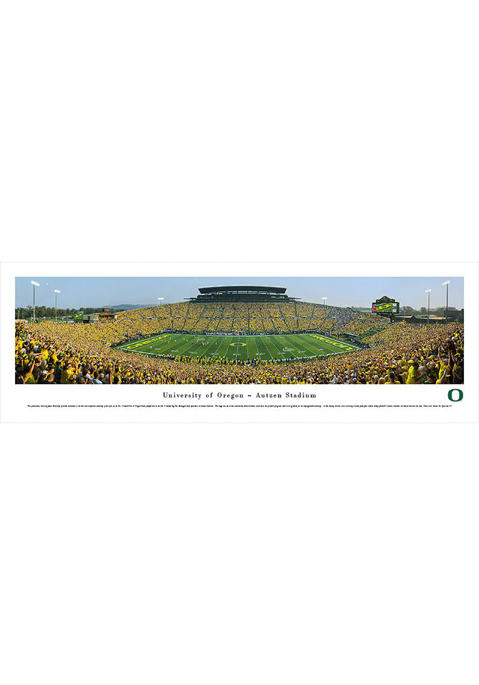Oregon Ducks Panorama Unframed Poster - Image 1