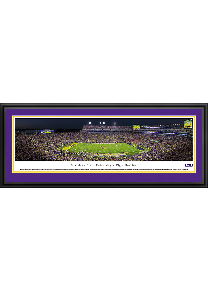 LSU Tigers Tiger Stadium Deluxe Framed Posters - Image 1
