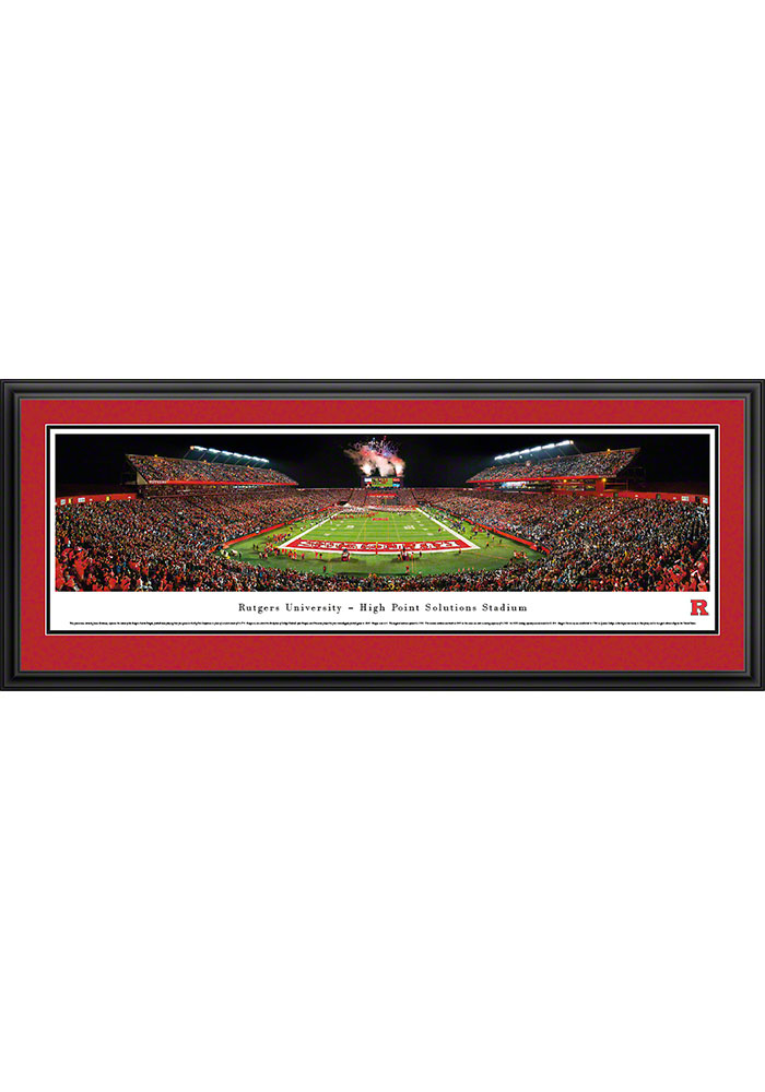Rutgers Scarlet Knights High Point Solutions Stadium Big 10 Deluxe Framed Posters - Image 1
