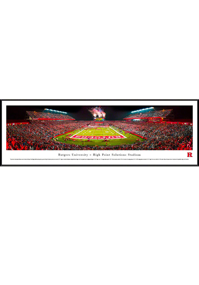 Rutgers Scarlet Knights High Point Solutions Stadium Big 10 Standard Framed Posters - Image 1