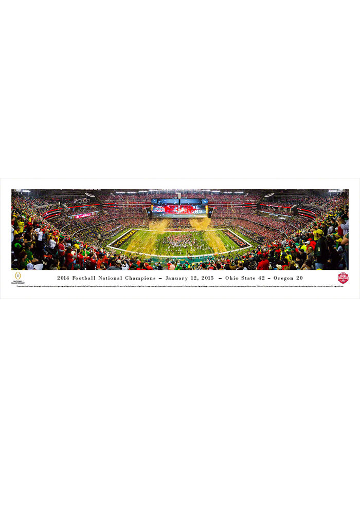Ohio State Buckeyes 2014 Football National Champions Tubed Unframed Poster - Image 1
