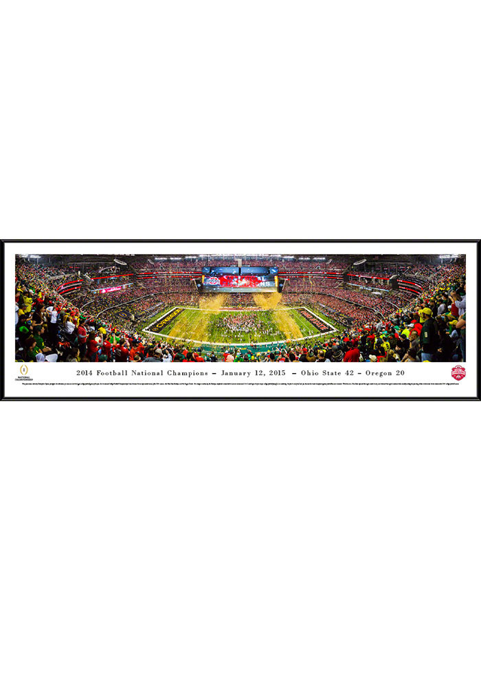 Ohio State Buckeyes 2014 Football National Champions Standard Framed Posters - Image 1