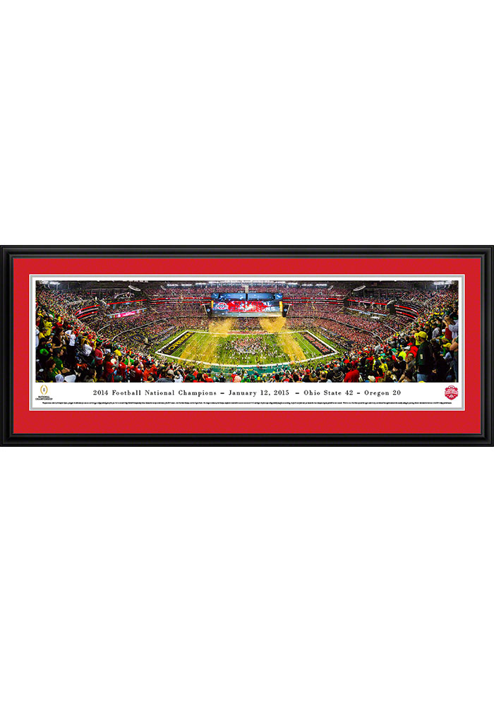 Ohio State Buckeyes 2014 Football National Champions Deluxe Framed Posters - Image 1