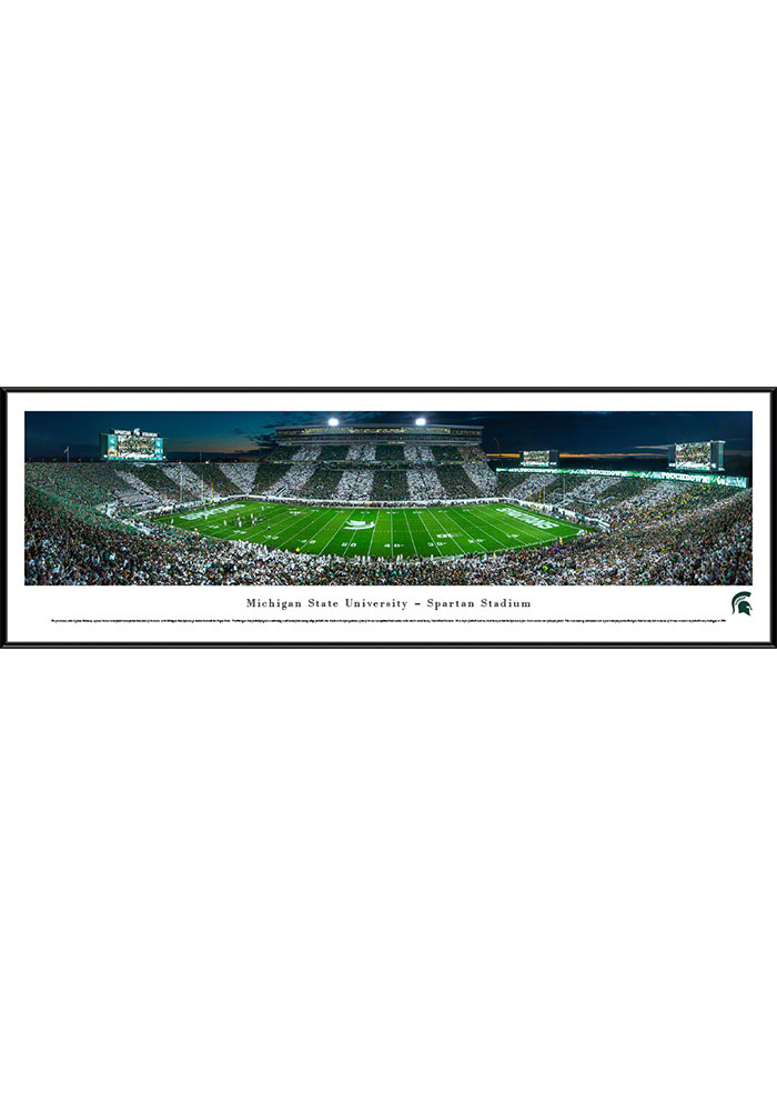 Michigan State Spartans Spartan Stadium Striped Standard Framed Posters - Image 1