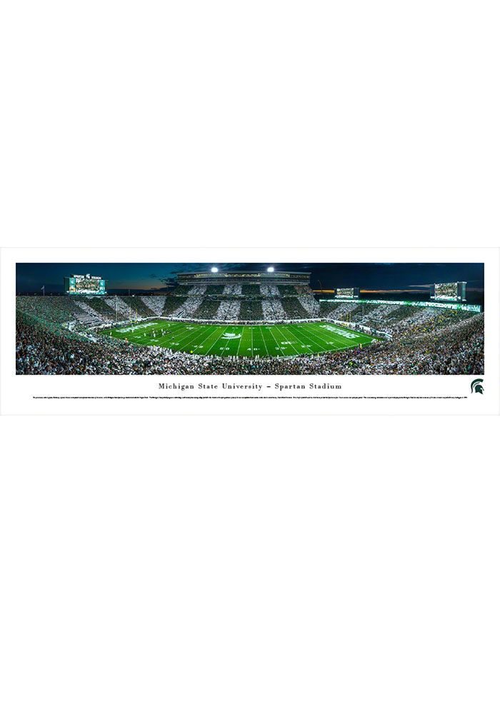 Michigan State Spartans Spartan Stadium Striped Tubed Unframed Poster - Image 1