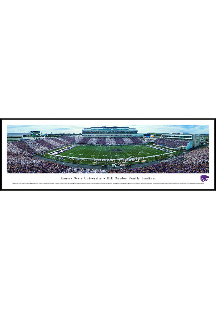 K-State Wildcats Bill Snyder Family Stadium Standard Framed Posters - Image 1