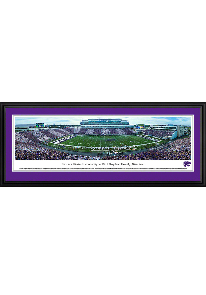 K-State Wildcats Bill Snyder Family Stadium Deluxe Framed Posters - Image 1