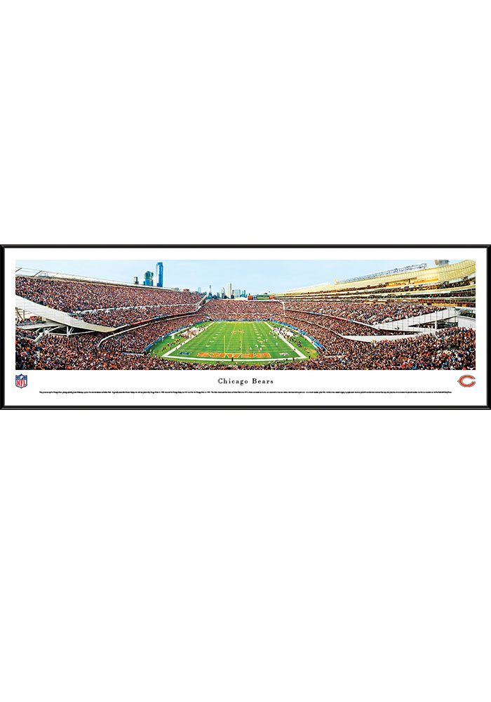 Chicago Bears Soldier Field Endzone Standard Framed Posters - Image 1