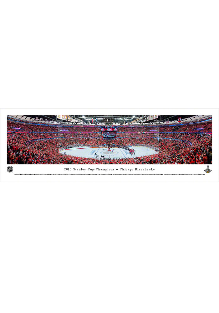 Chicago Blackhawks 2015 Stanley Cup Champions Panorama Unframed Poster - Image 1