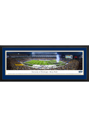 Pitt Panthers Heinz Field At Night Stadium Deluxe Framed Posters