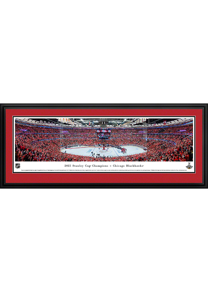 Chicago Blackhawks 2015 Stanley Cup Champions Deluxe Framed Posters - Image 1