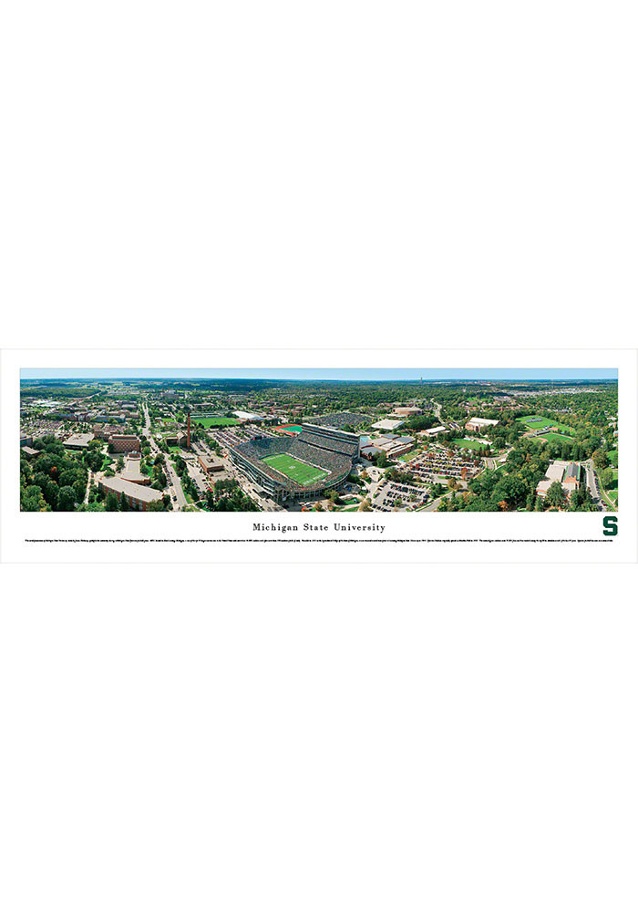 Michigan State Spartans Aerial Pano Unframed Poster - Image 1