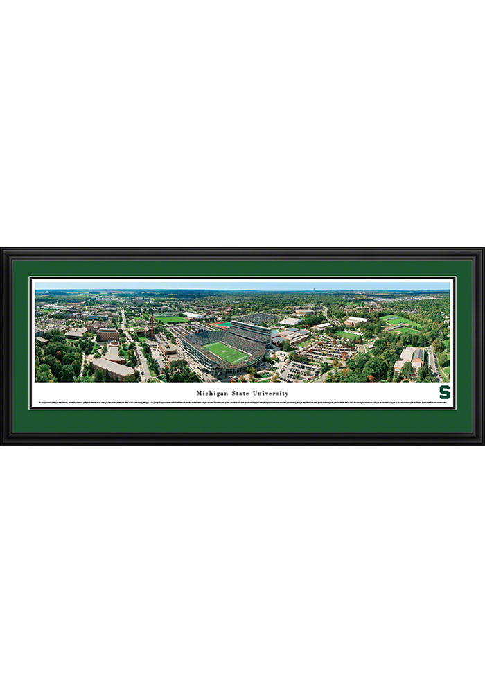 Michigan State Spartans Aerial Deluxe Framed Posters - Image 1