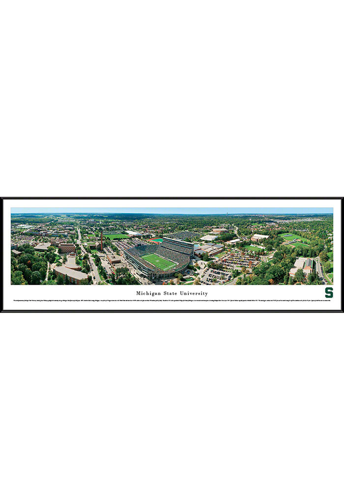 Michigan State Spartans Aerial Stadium Framed Posters - Image 1