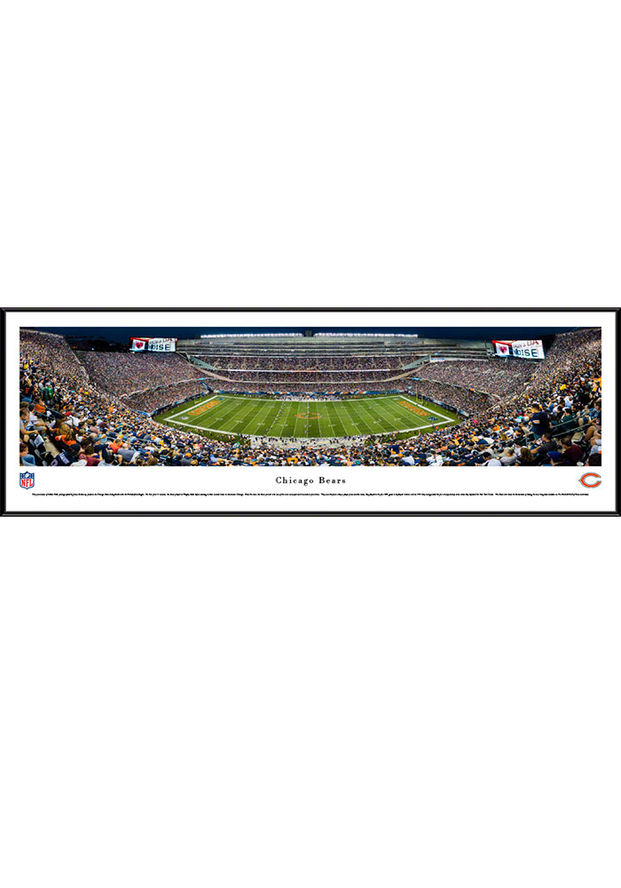 Chicago Bears Soldier Field At Night Standard Framed Posters - Image 1