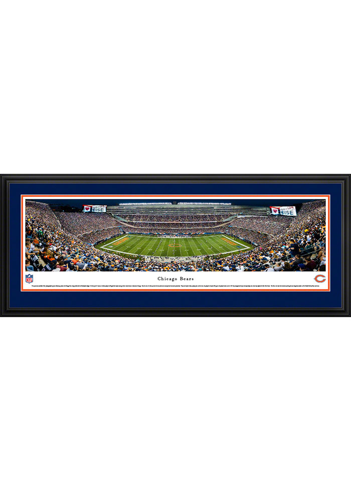 Chicago Bears Soldier Field At Night Deluxe Framed Posters - Image 1