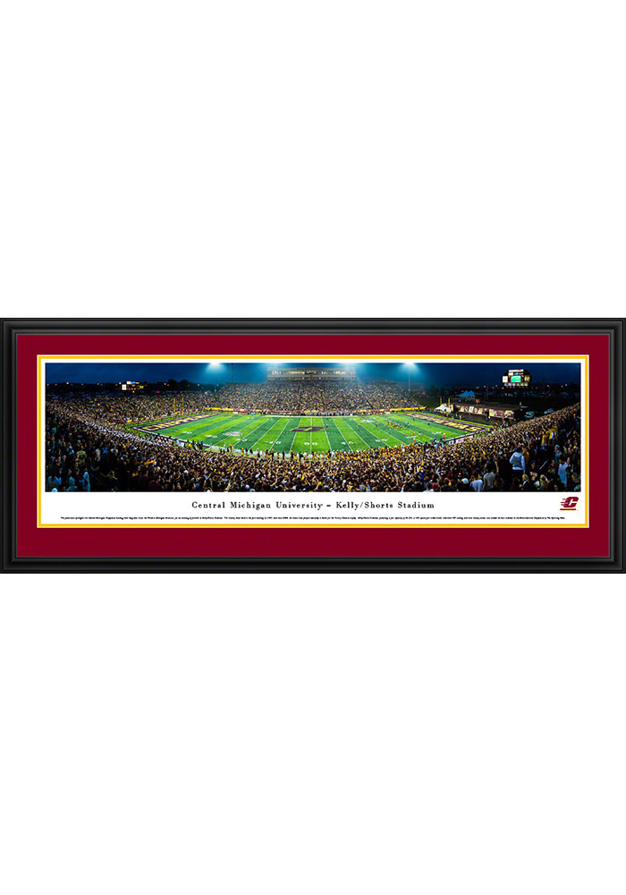 Central Michigan Chippewas Kelly/Shorts Stadium Deluxe Framed Posters - Image 1