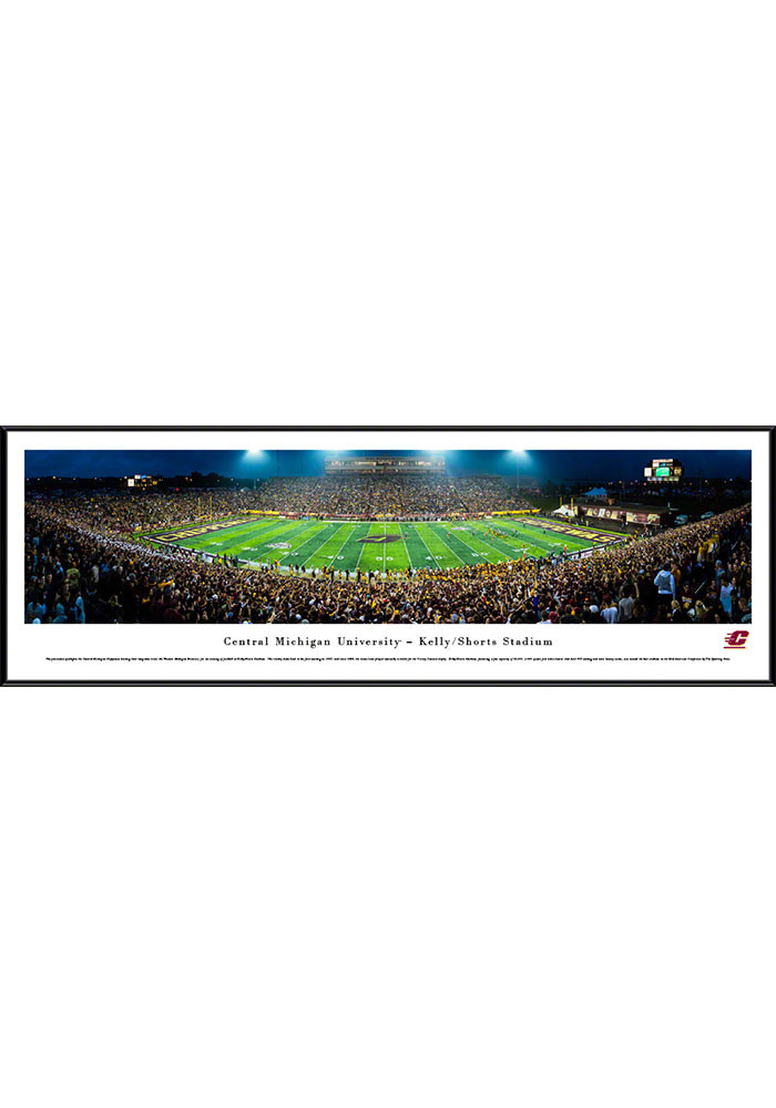 Central Michigan Chippewas Kelly/Shorts Stadium Standard Framed Posters - Image 1
