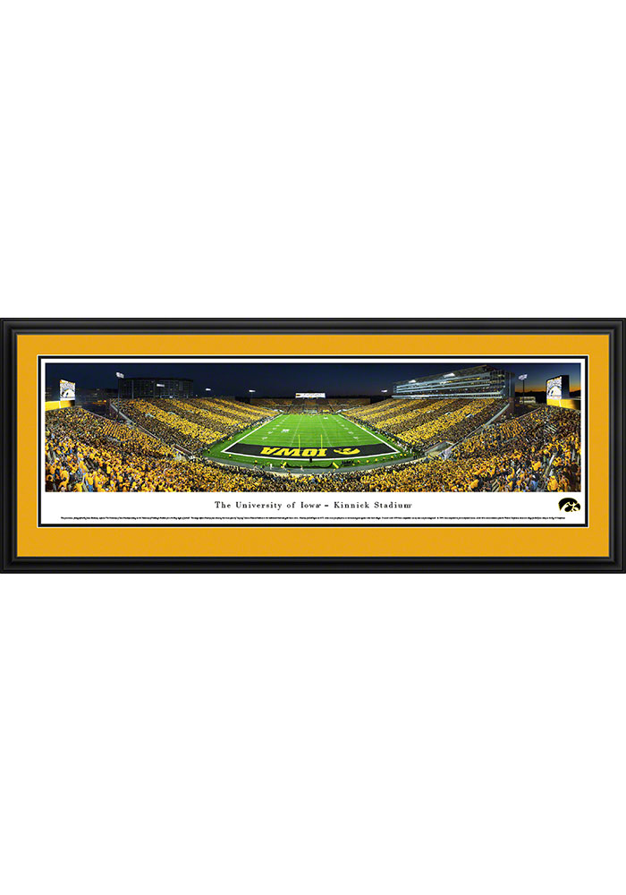 Iowa Hawkeyes Kinnick Stadium Endzone Striped Deluxe Framed Posters - Image 1
