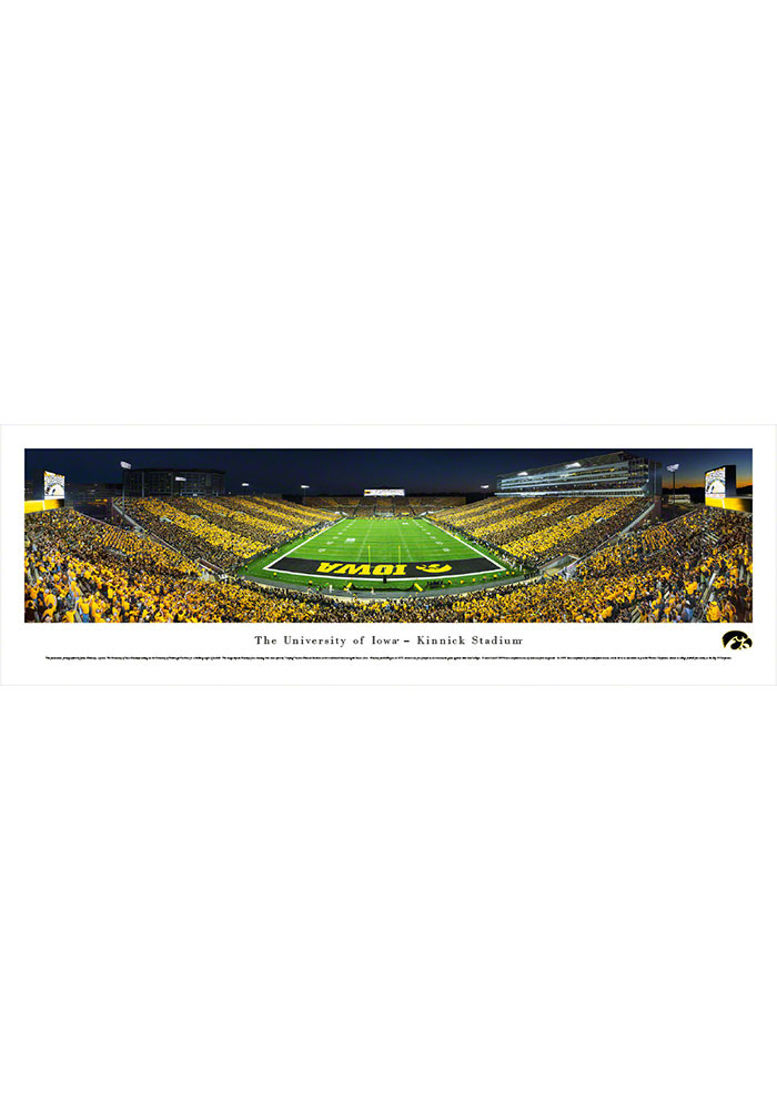 Iowa Hawkeyes Kinnick Stadium Endzone Striped Tubed Framed Posters - Image 1