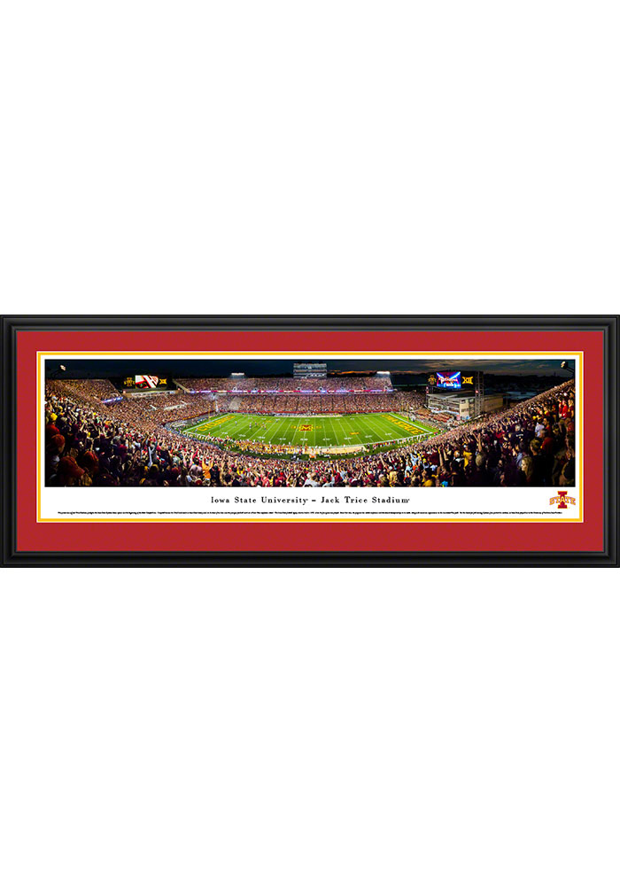 Iowa State Cyclones Jack Trice Stadium Deluxe Framed Posters - Image 1