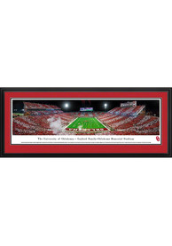 Oklahoma Sooners Gaylord Family- OK Memorial Stadium Endzone Striped Deluxe Framed Posters