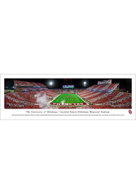 Oklahoma Sooners Gaylord Family- OK Memorial Stadium Endzone Striped Tubed Unframed Poster