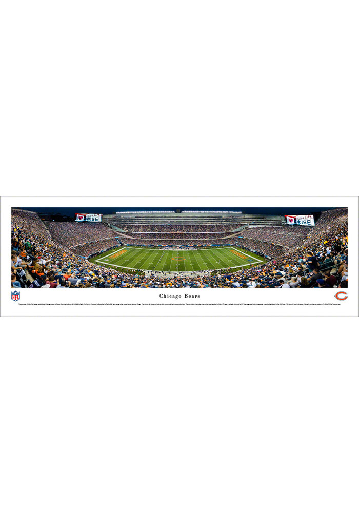 Chicago Bears Soldier Field At Night Tubed Unframed Poster - Image 1