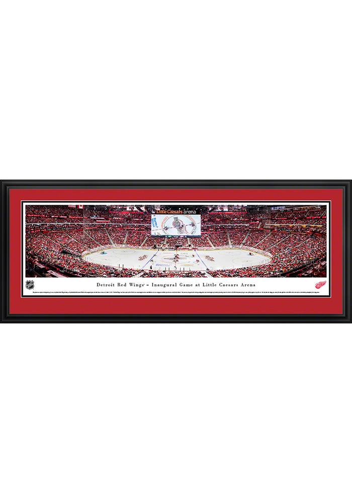 Detroit Red Wings Little Caesars Arena Deluxe Framed Posters - Image 1